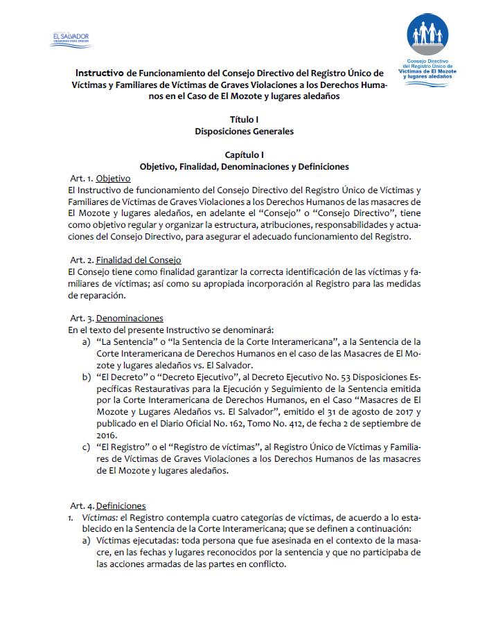 Instructivo de funcionamiento Consejo Directivo