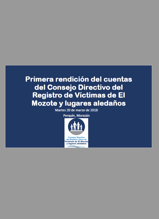 Primer informe de rendición de cuentas del Consejo Directivo