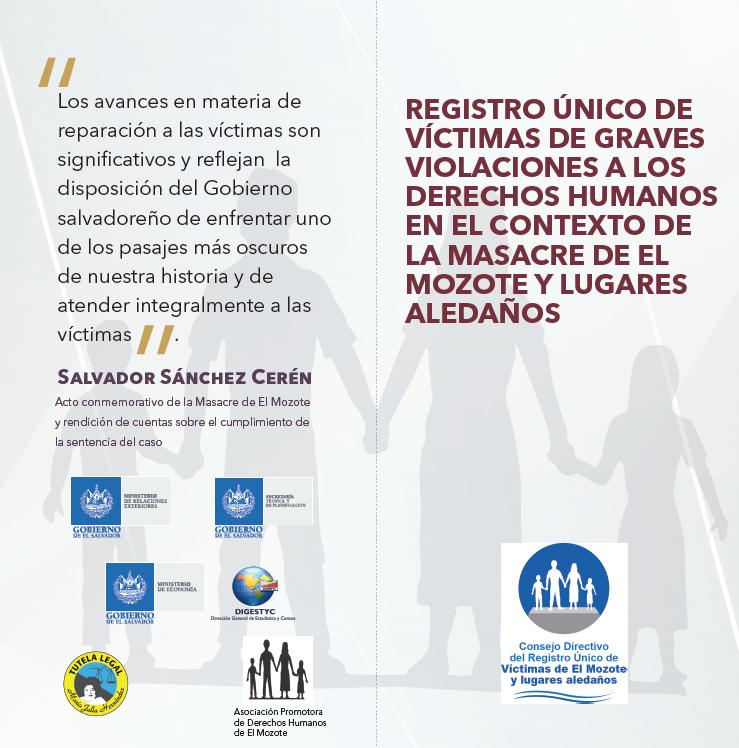 Brochure Registro El Mozote